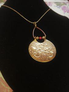Brass round pendant