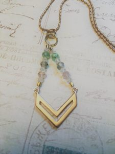 Triangle beaded pendant